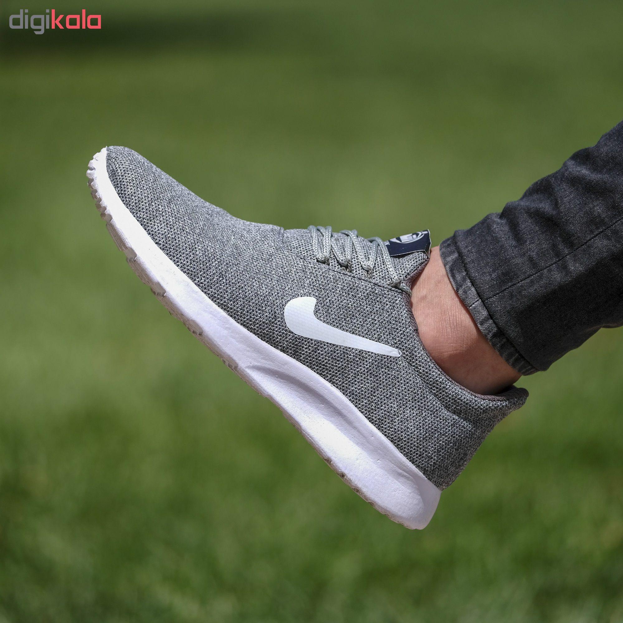کفش مخصوص پیاده روی مردانه مدل nik.soleiman رنگ طوسی