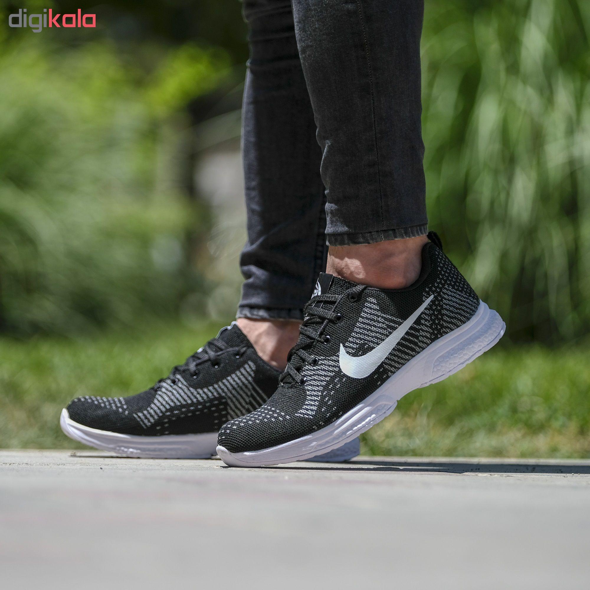 کفش مخصوص پیاده روی مردانه مدل nik.pama.khal.khal رنگ مشکی
