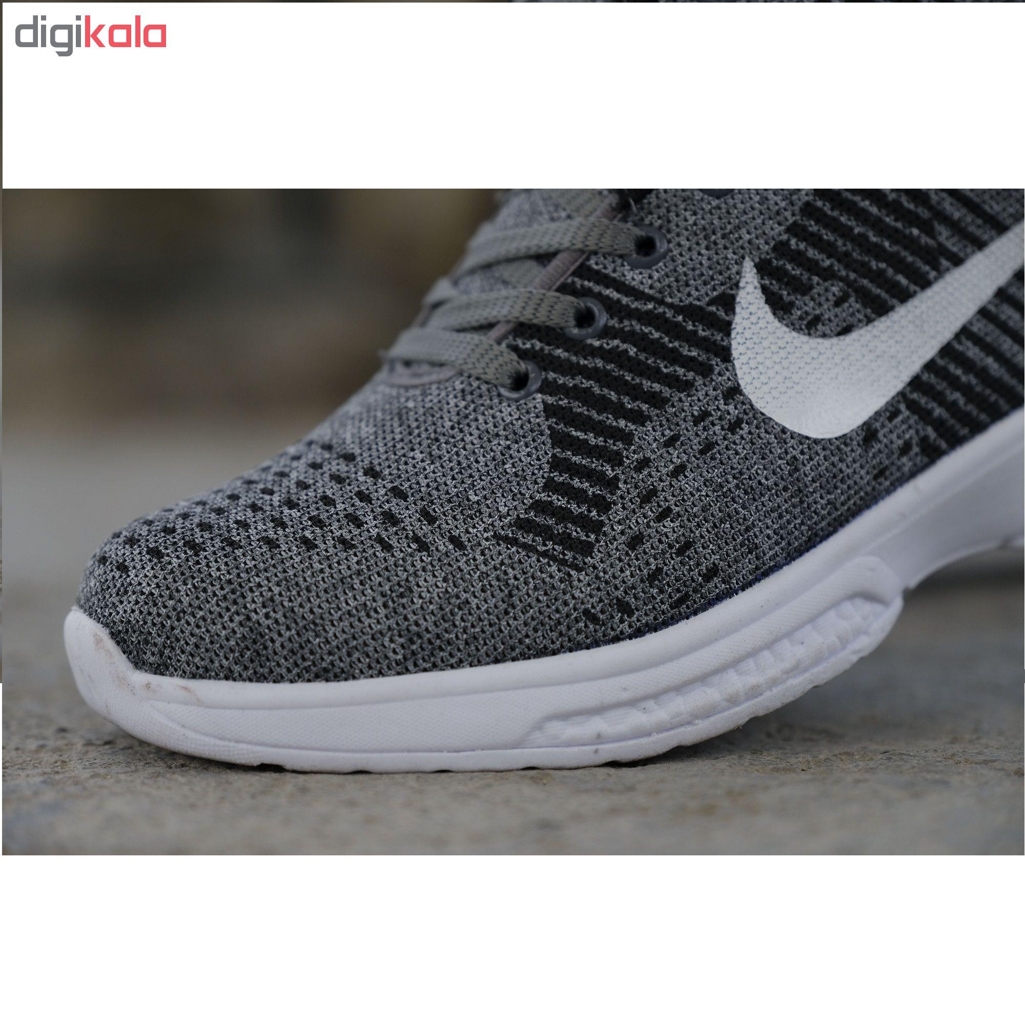 کفش مخصوص پیاده روی مردانه مدل nik.pama.khal.khal رنگ طوسی