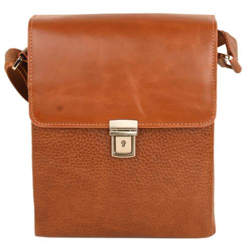 کیف دوشی مردانه کهن چرم مدل DB108-1