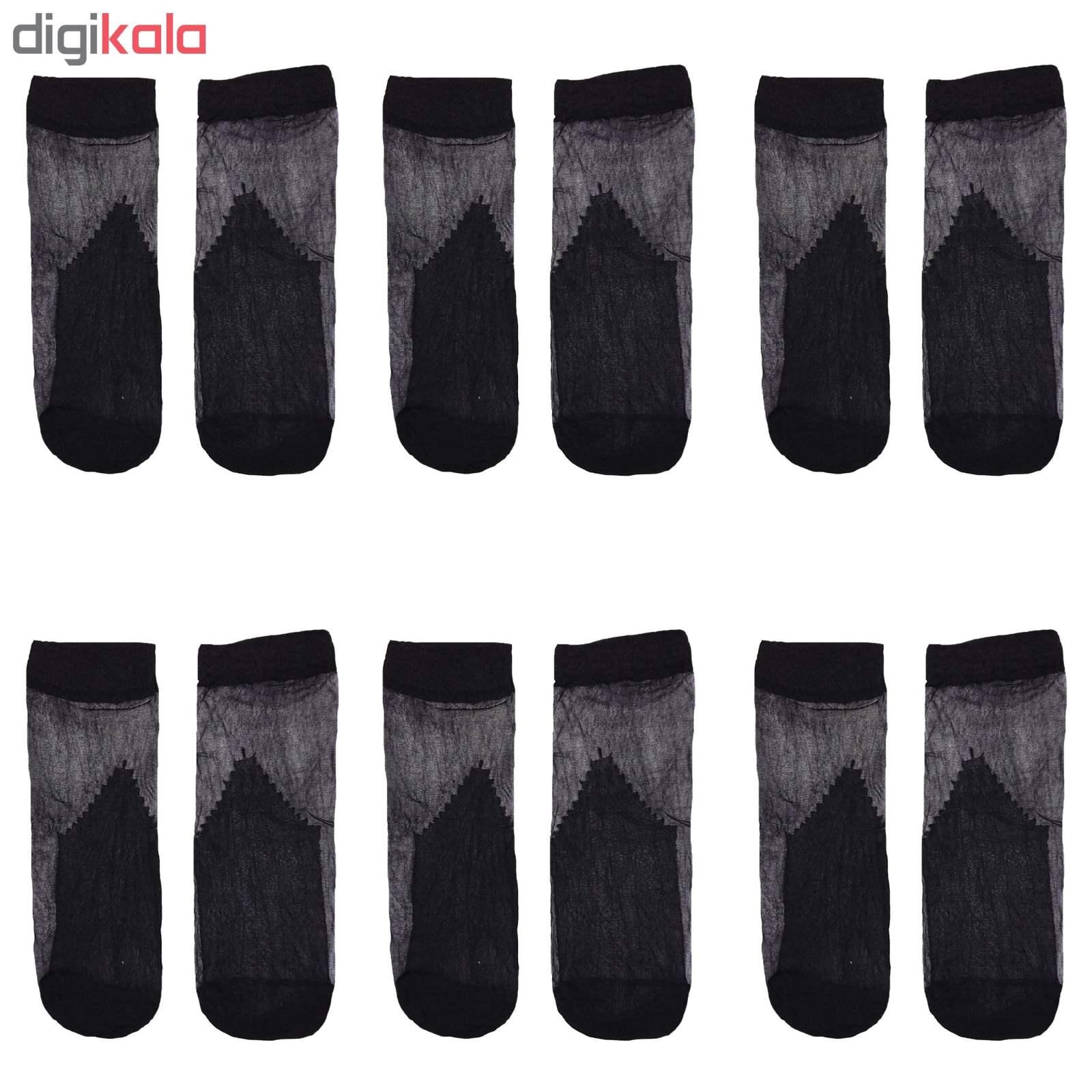 جوراب زنانه پنتی مدل X6 بسته 6 عددی main 1 1