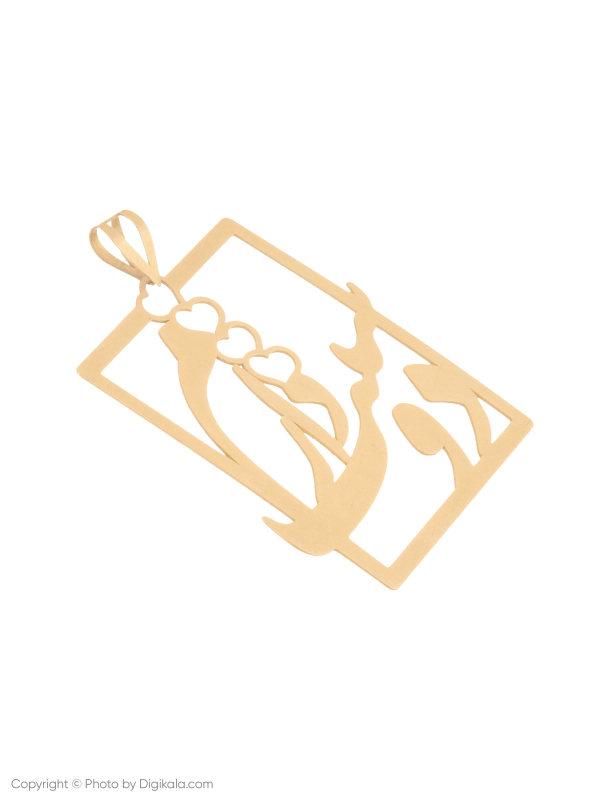 آویز گردنبند طلا 18 عیار زنانه میو گلد مدل N136