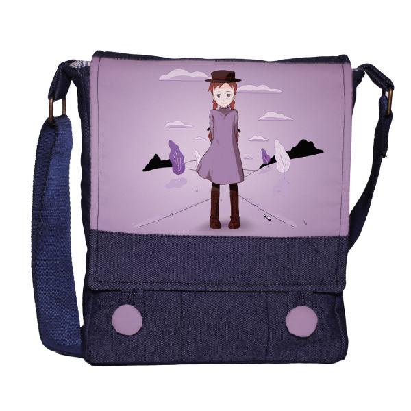 کیف دوشی دخترانه گالری چی چاپ طرح آنشرلی تک سایز