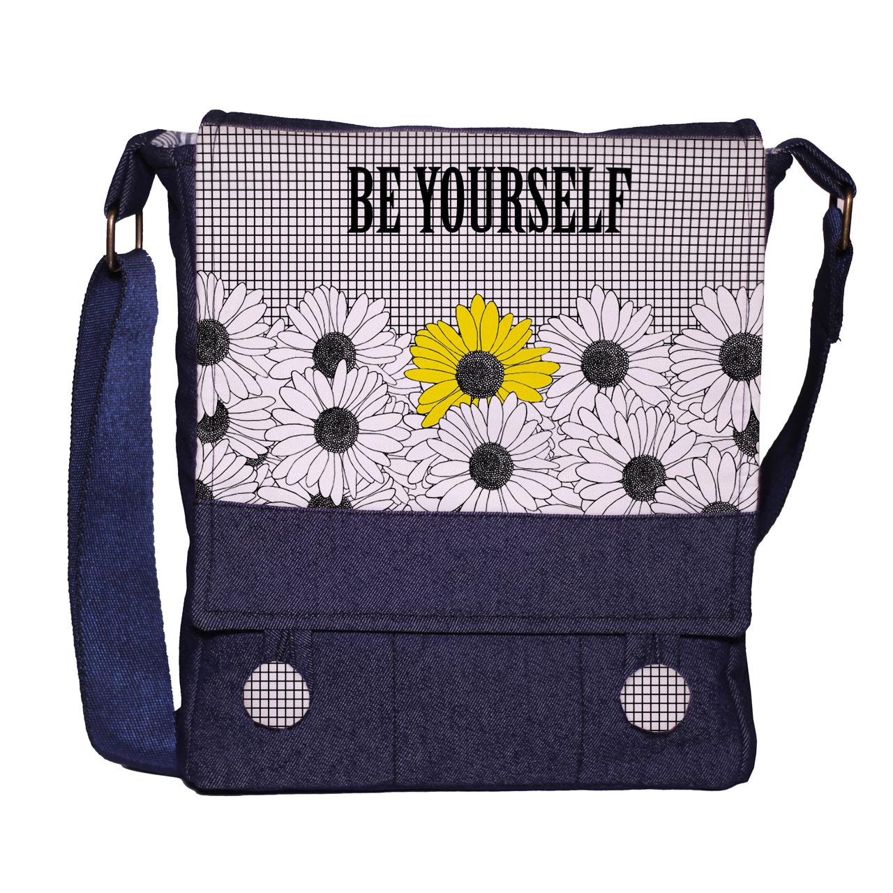 کیف دوشی زنانه گالری چی چاپ طرح خودت باش