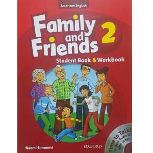 کتاب زبان Family And Friends 2 - Student Book & WorkBook اثر Noomi Simmons انتشارات Oxford