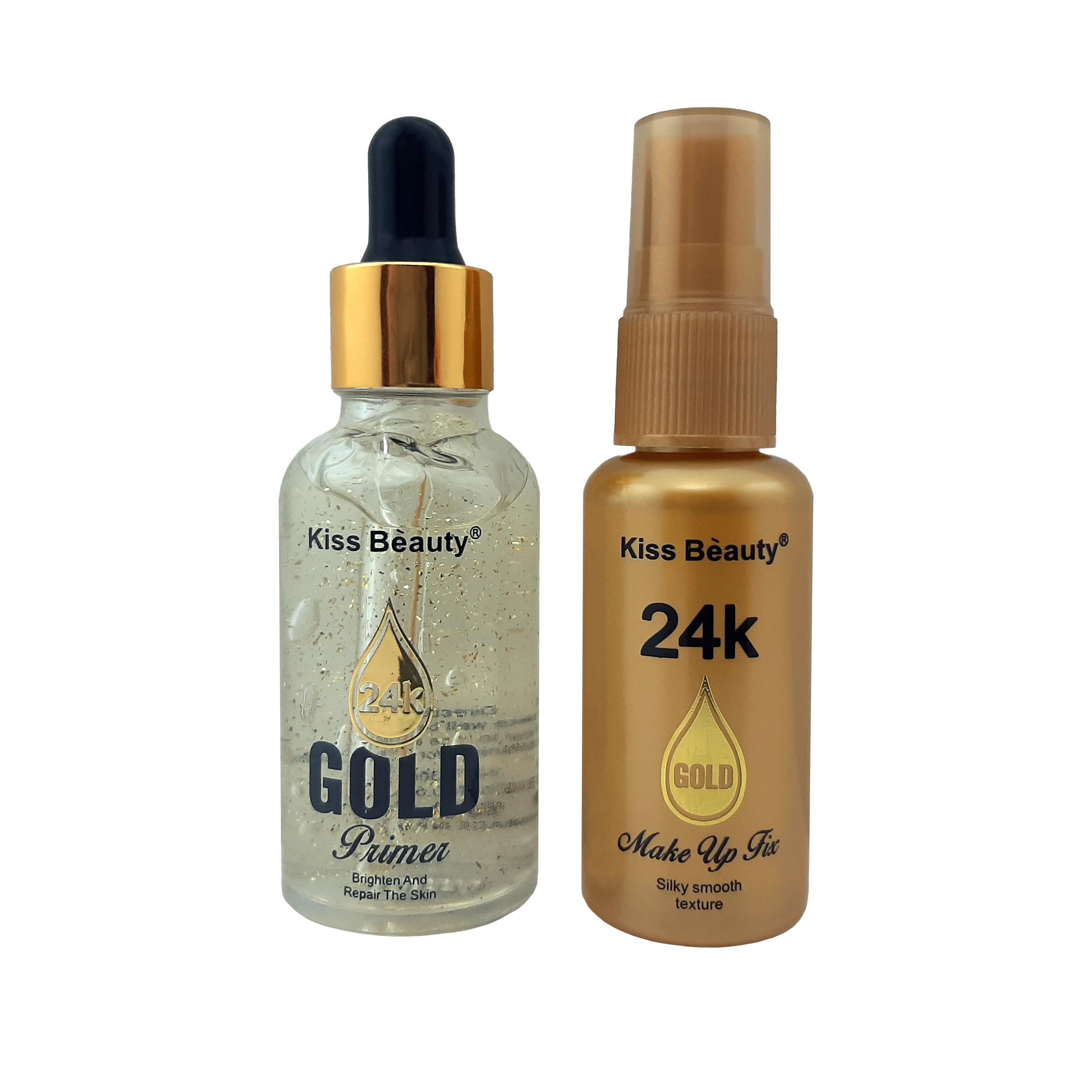 قیمت پرایمر و اسپری تثبیت کننده آرایش کیس بیوتی مدل Gold 2in1
