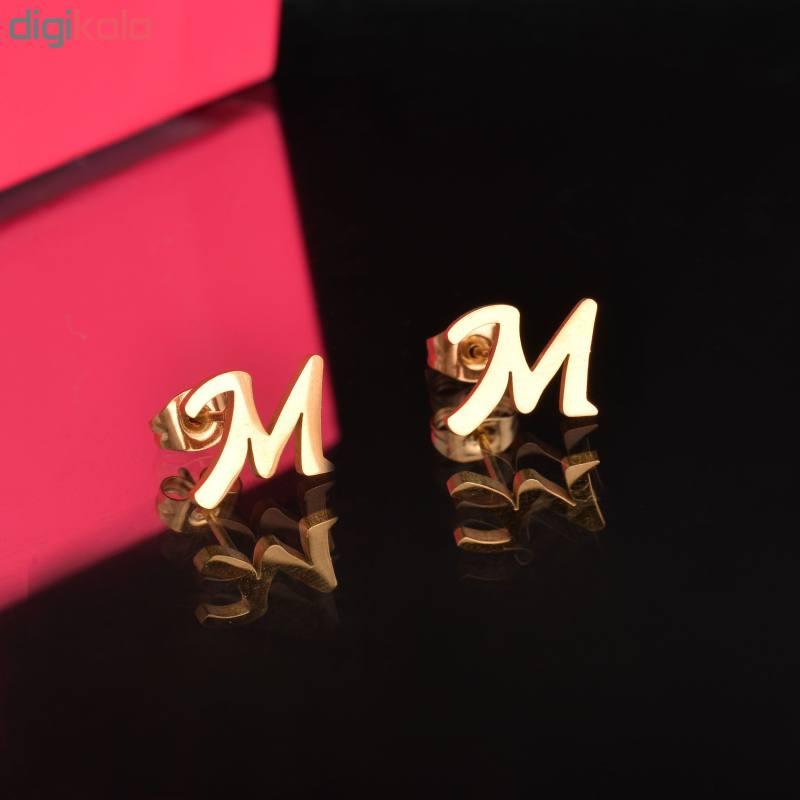 گوشواره زنانه طرح M کد GO1248