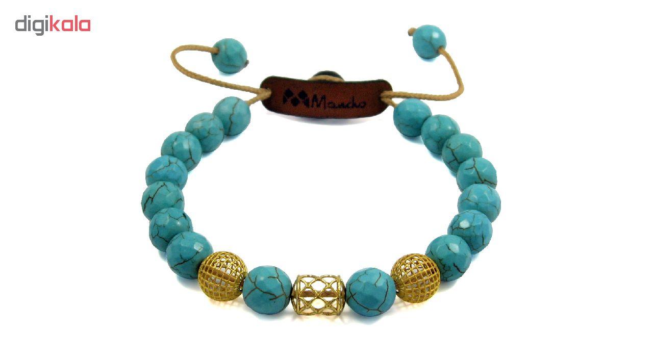 دستبند طلا 18عیار زنانه مانچو مدل bfg136