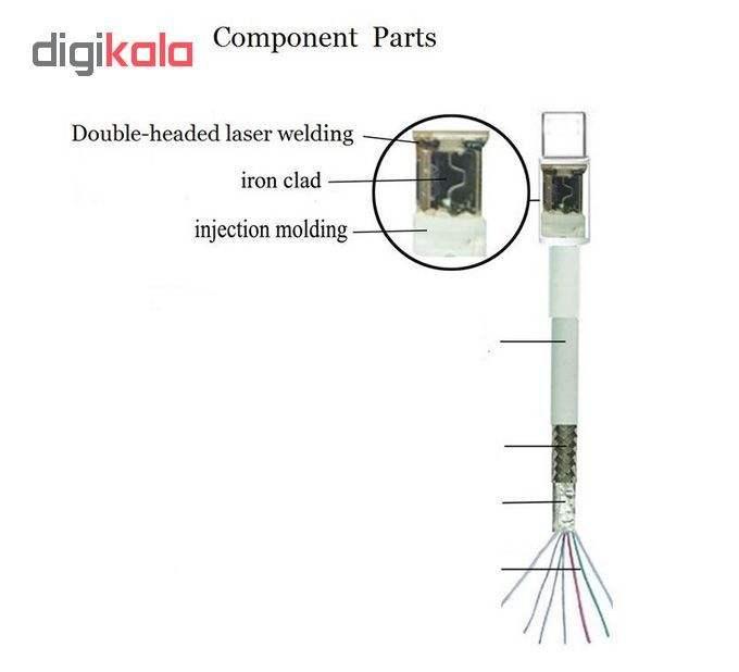 کابل تبدیل USB به لایتنینگ مدل 8ice75org طول 1 متر main 1 3