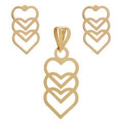 قیمت نیم ست طلا 18 عیار زنانه کد 19