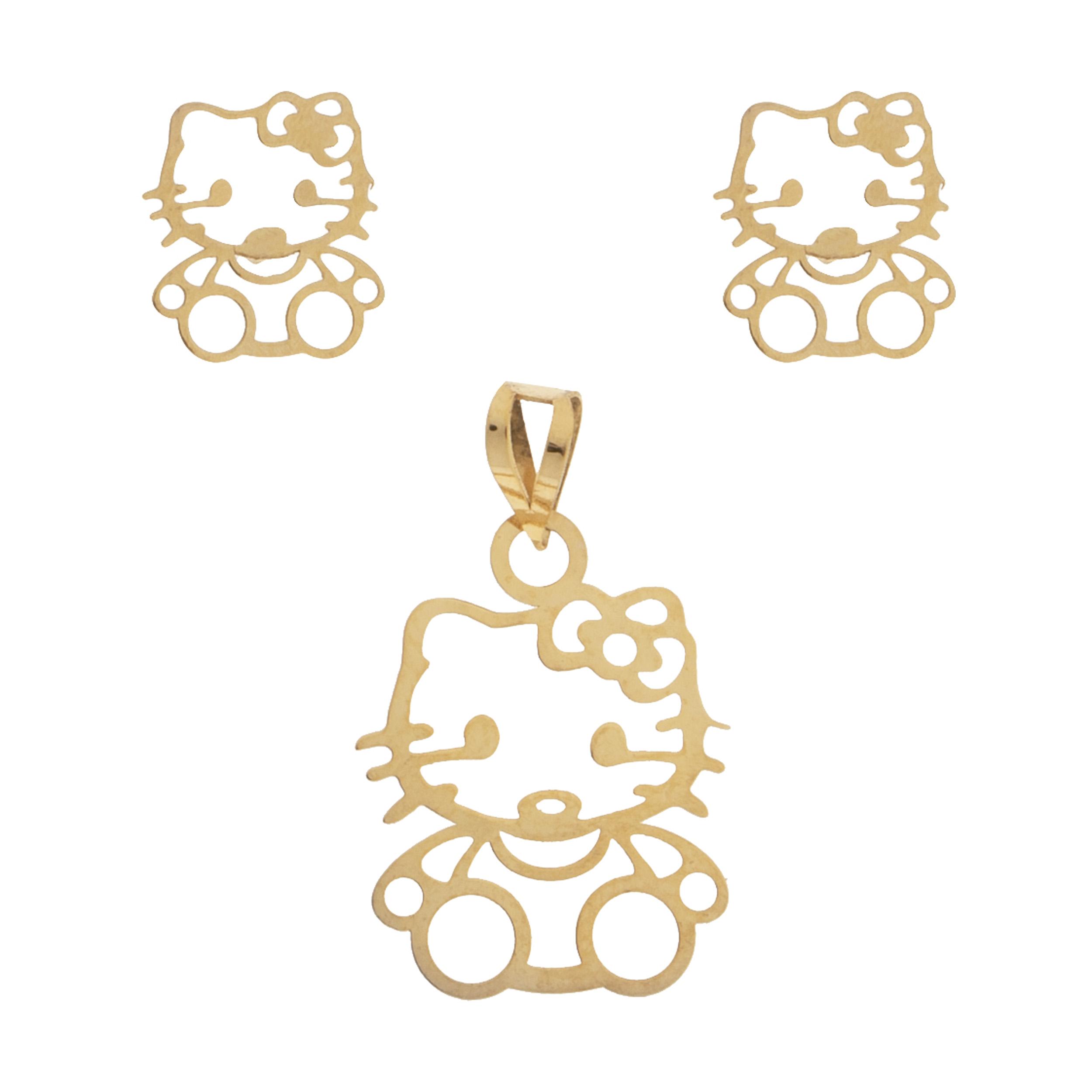قیمت نیم ست طلا 18 عیار زنانه کد23