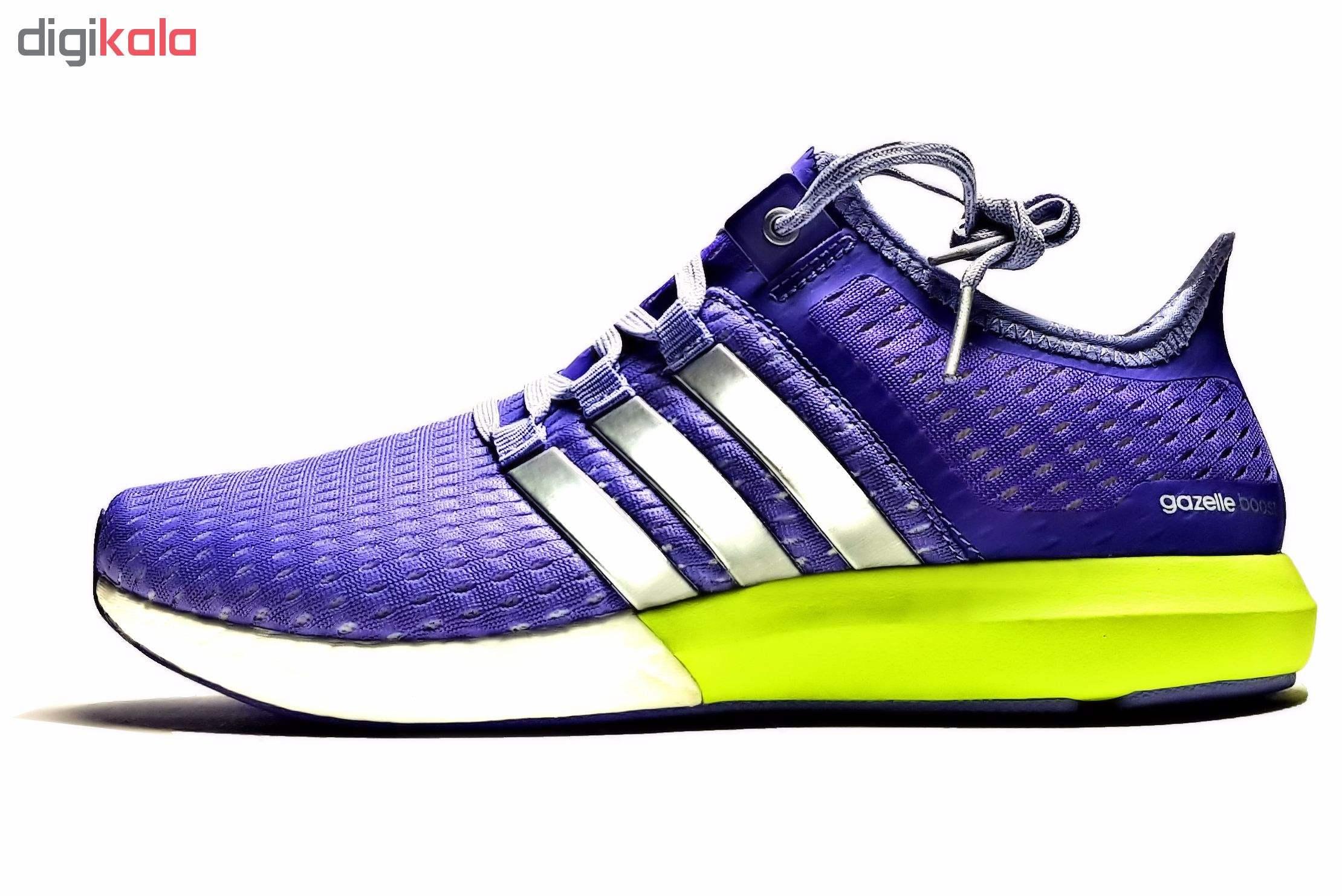 کفش مخصوص پیاده روی مدل Gazelle Boost Purple S77248  غیر اصل