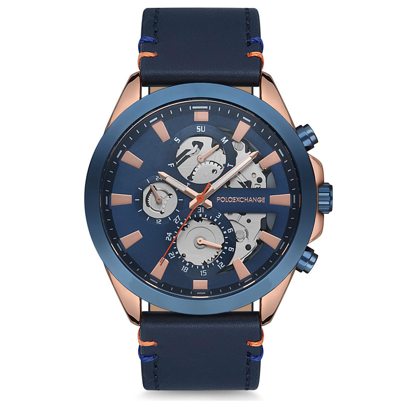 ساعت مچی عقربه ای مردانه پولو اکس چینج مدل PX0130D-05