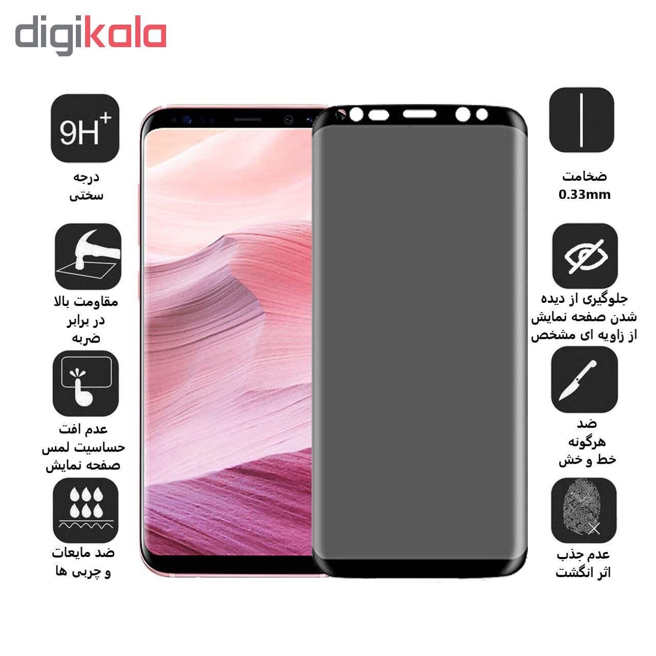 محافظ صفحه نمایش Privacy بوف مدل F33 مناسب برای گوشی موبایل سامسونگ Galaxy S8 Plus main 1 2