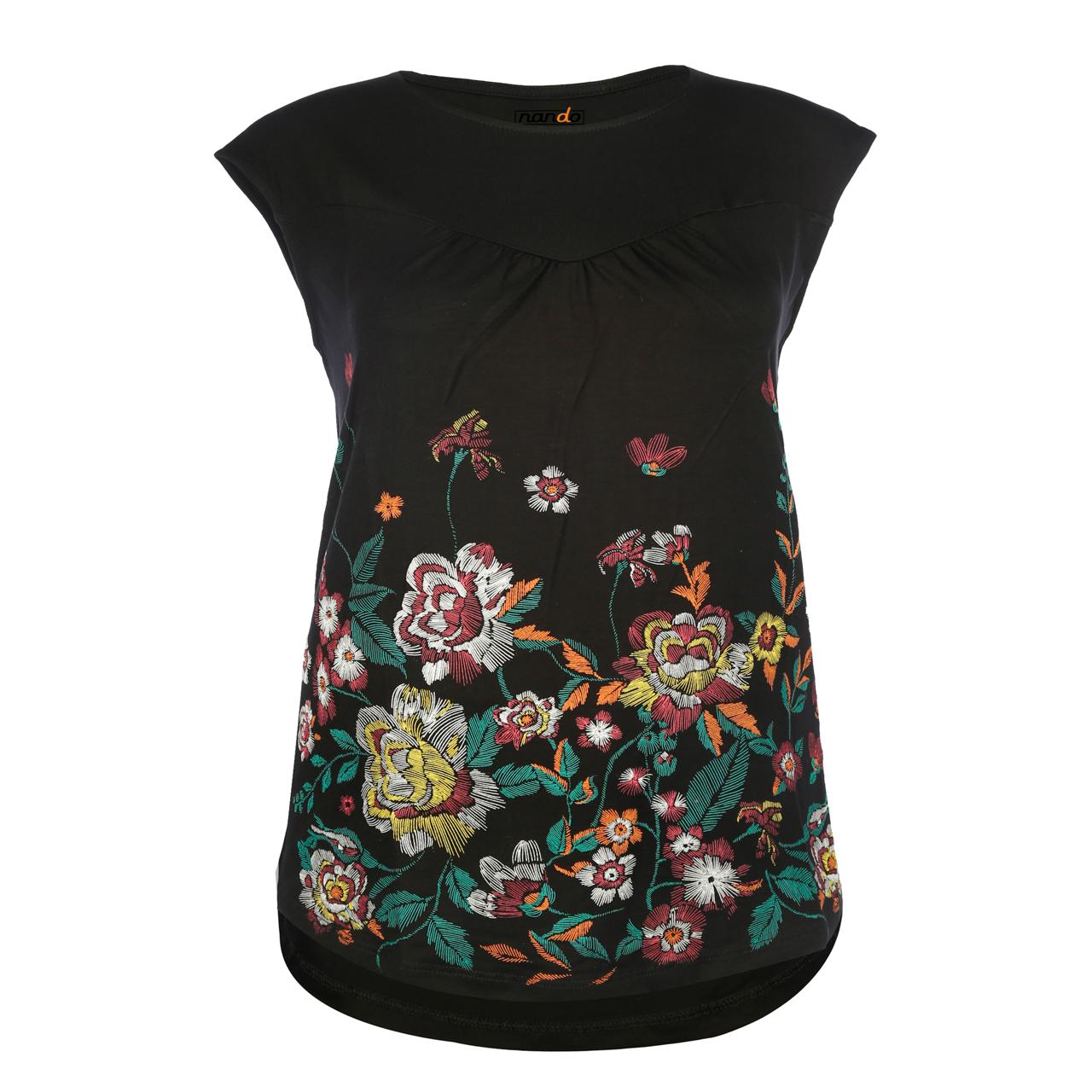 تی شرت زنانه ناندو استایل کد NS05