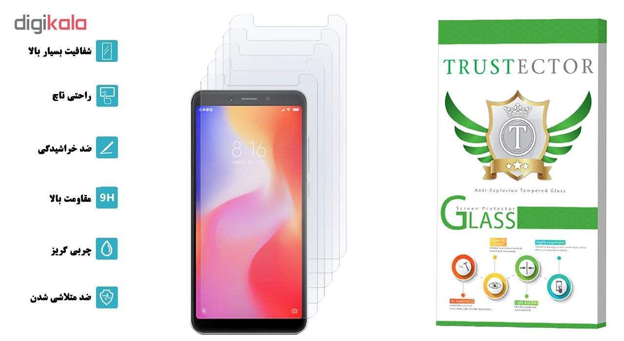 محافظ صفحه نمایش تراستکتور مدل GLS مناسب برای گوشی موبایل شیائومی Redmi 6A بسته 5 عددی main 1 2