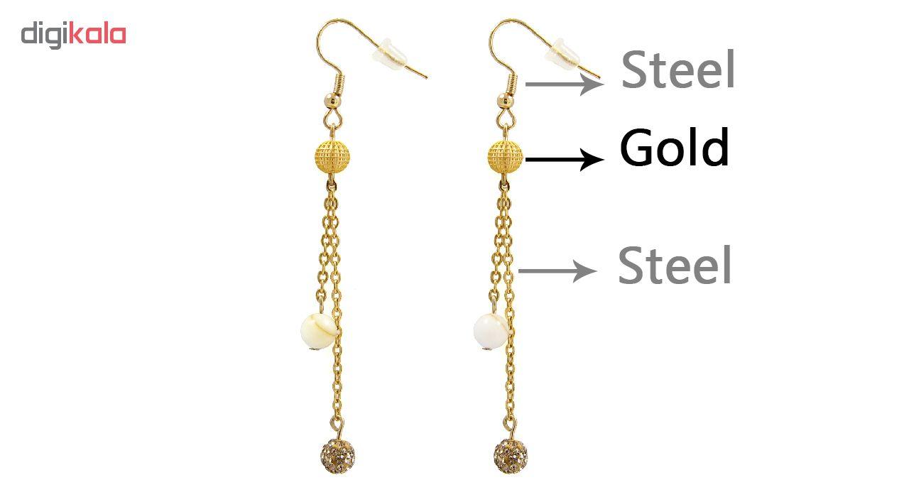 گوشواره طلا 18 عیار زنانه مانچو مدل efg002