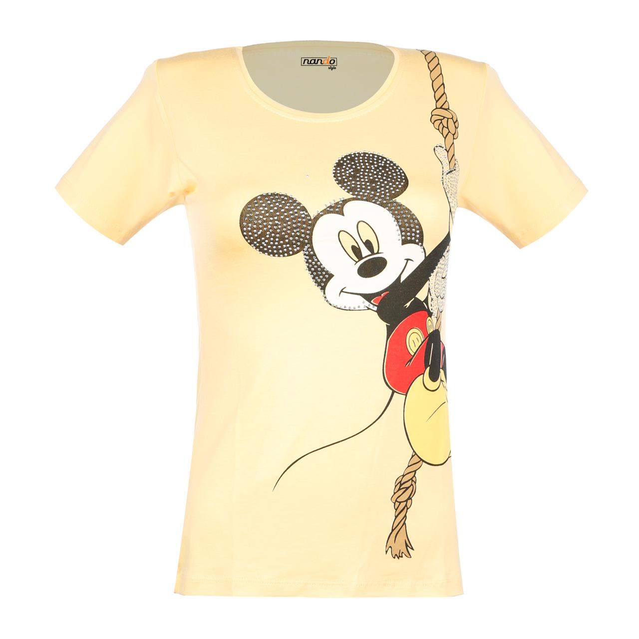 تی شرت زنانه ناندو استایل طرح میکی موس کد NS34