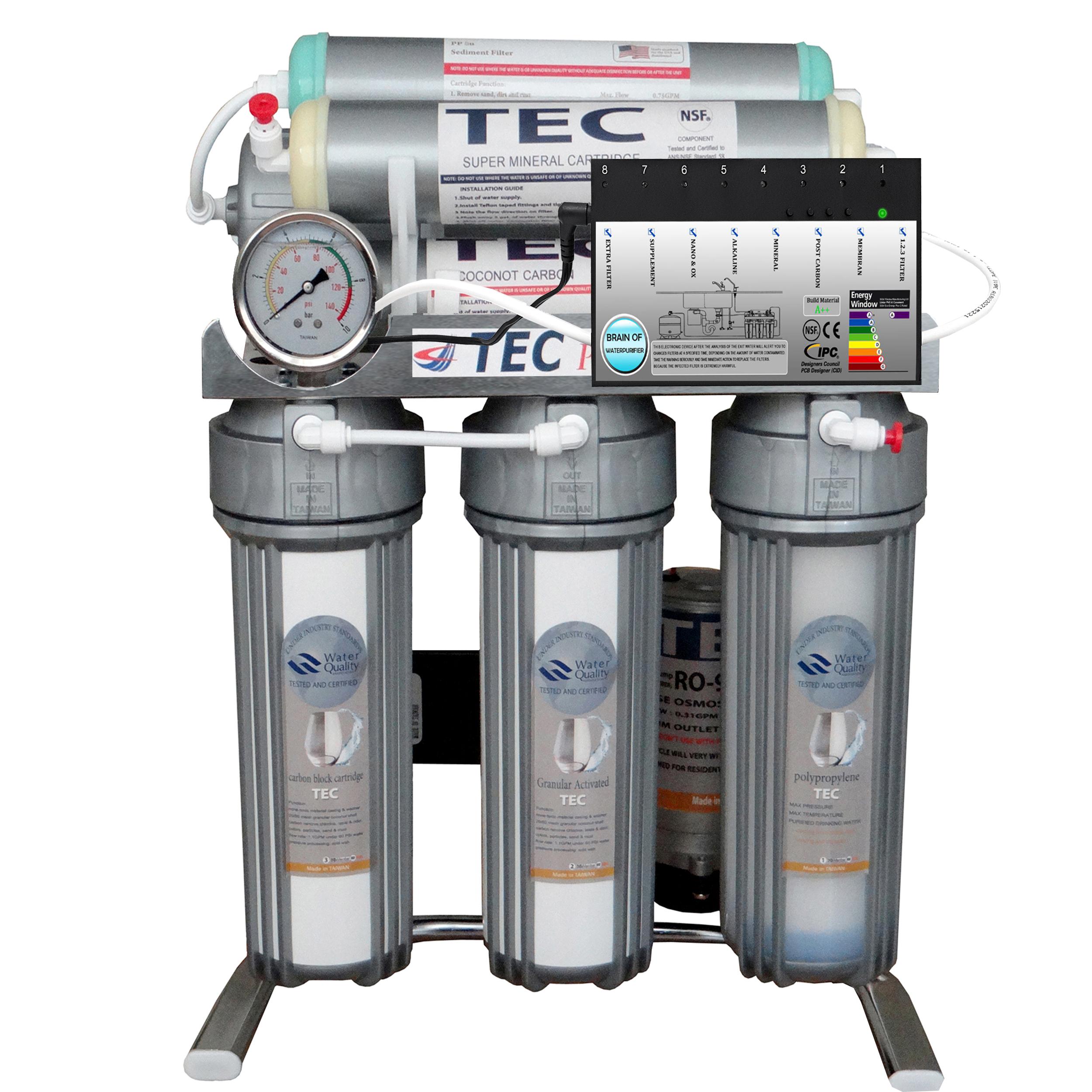 دستگاه تصفیه کنننده آب خانگی تک مدل CHROME2019-AT7300