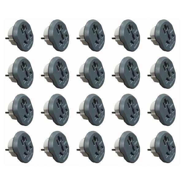 مبدل برق مکس-110 مدل MX-16A بسته 20 عددی