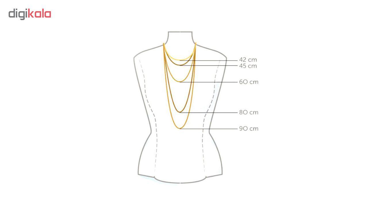 گردنبند طلا 18 عیار زنانه مانچو مدل sfg634