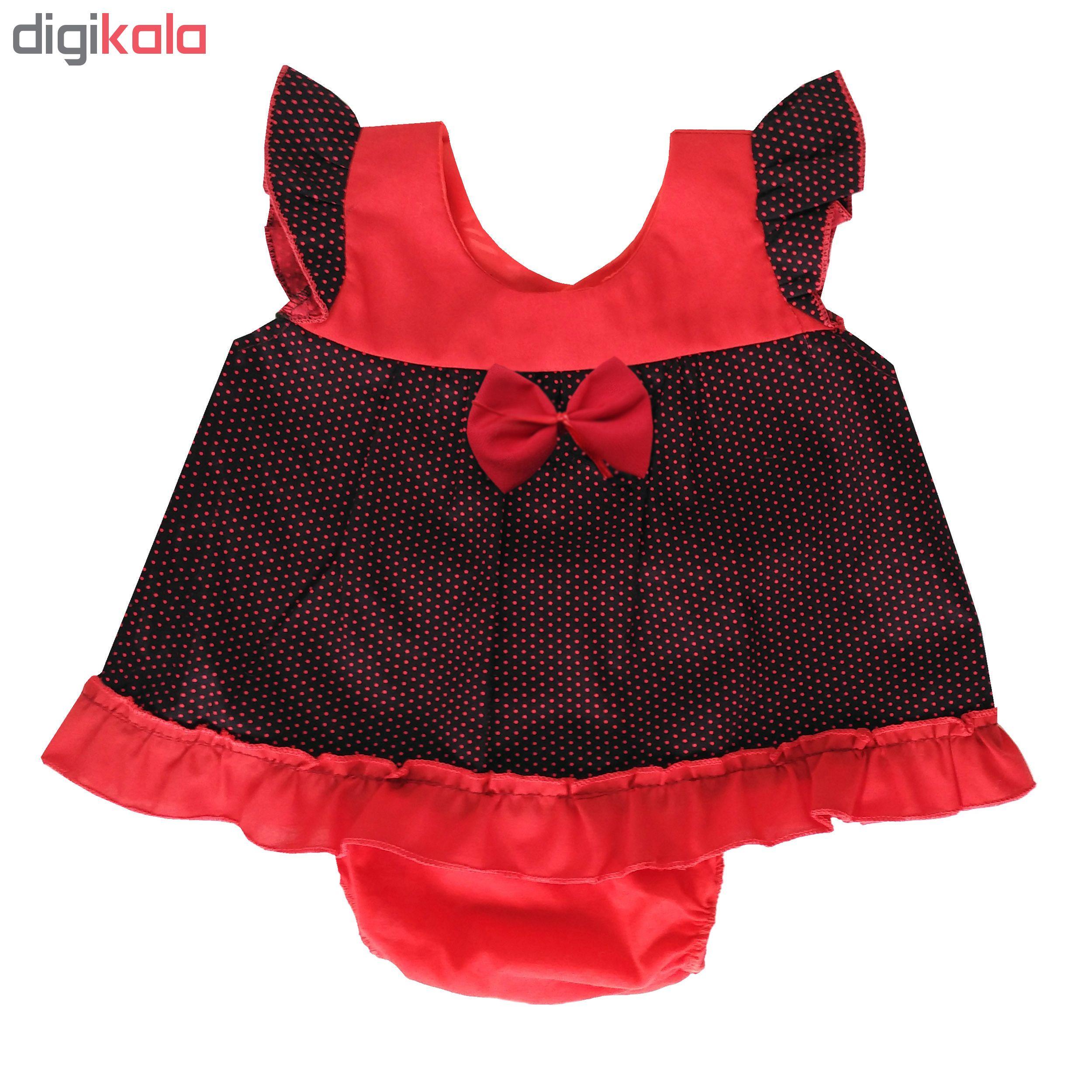 پیراهن نوزادی دخترانه مدل لاله کد 1002