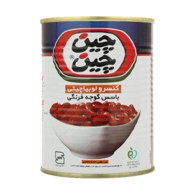 کنسرو لوبیا چیتی با سس گوجه فرنگی چین چین - 400 گرم