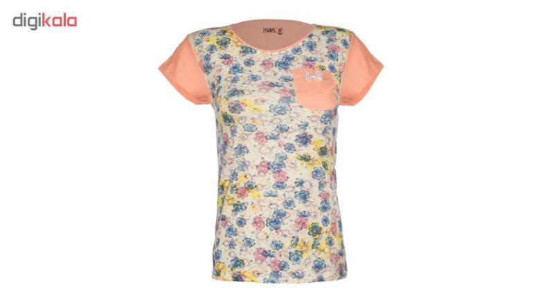 ست تی شرت و شلوارک زنانه ناندو استایل کد NS51