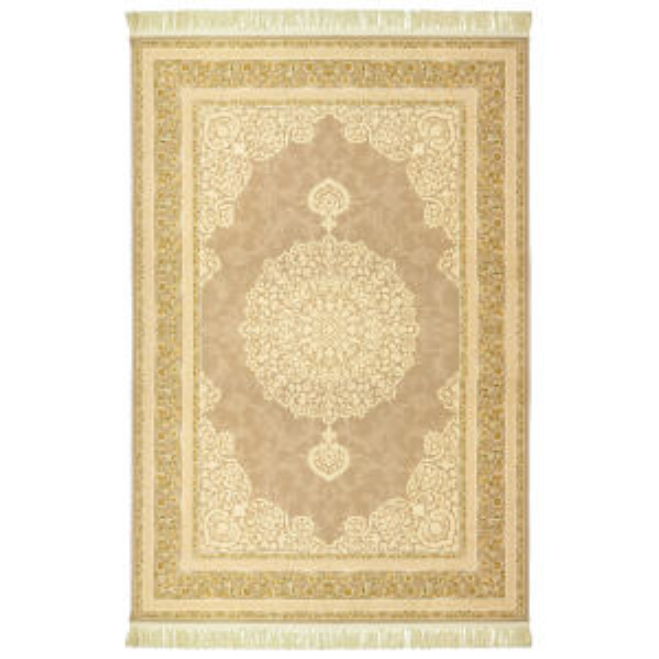فرش ماشینی عرش طرح آیدا شاه عباسی زمینه فیلی