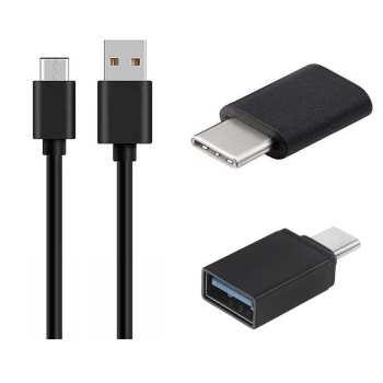کابل تبدیل USB به USB-C مکا مدل MCU49 به همراه مبدل OTG USB-C  و مبدل  microUSB