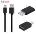 کابل تبدیل USB به USB-C مکا مدل MCU49 به همراه مبدل OTG USB-C  و مبدل  microUSB thumb 1
