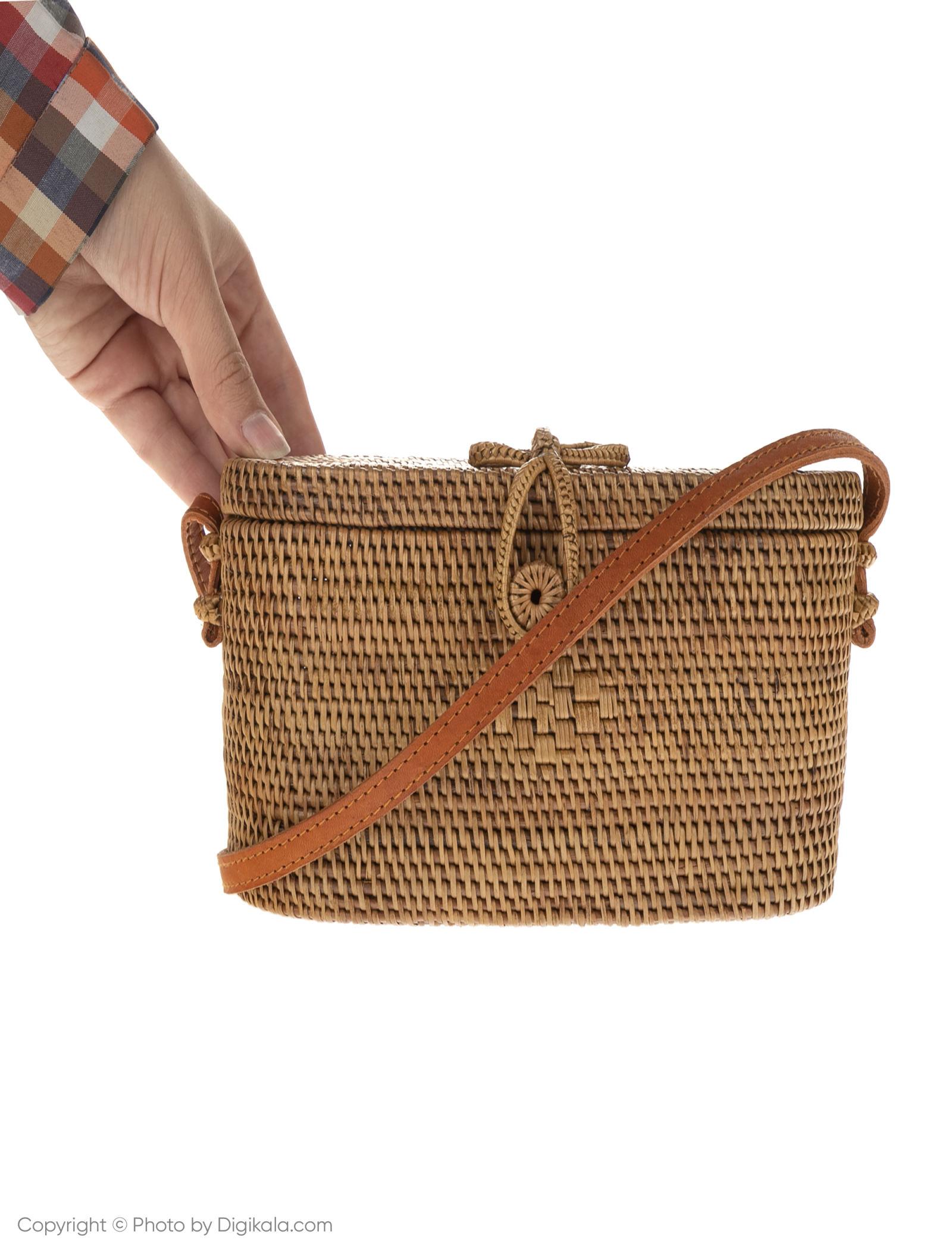 کیف دوشی روزمره زنانه - مانگو تک سایز - بژ - 8