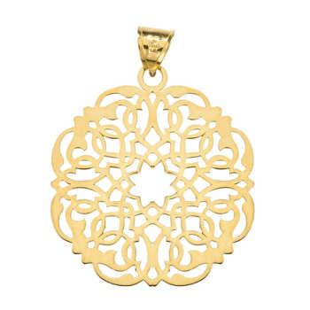 آویز گردنبند طلا 18 عیار زنانه کد DG019