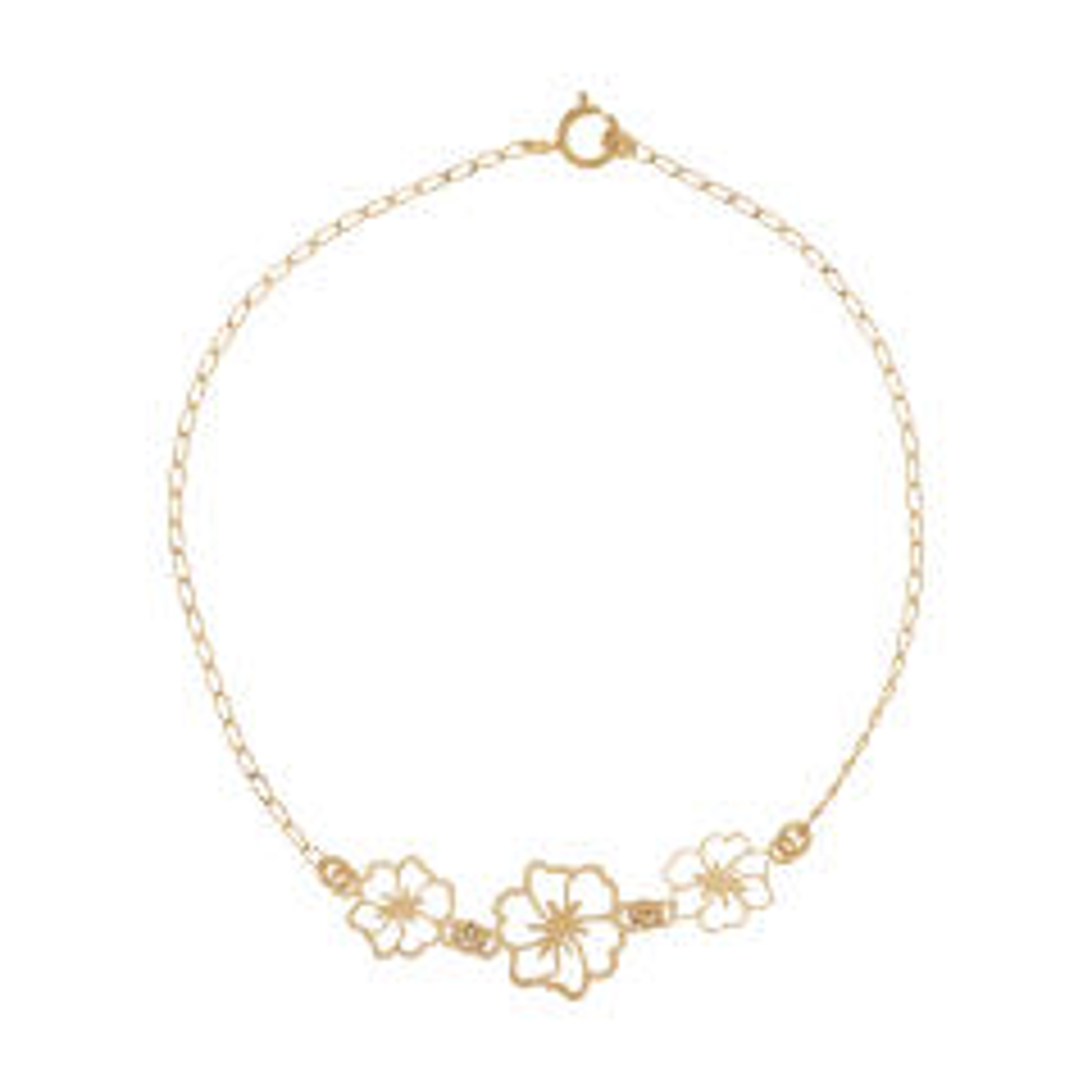 دستبند طلا 18 عیار زنانه کد 35