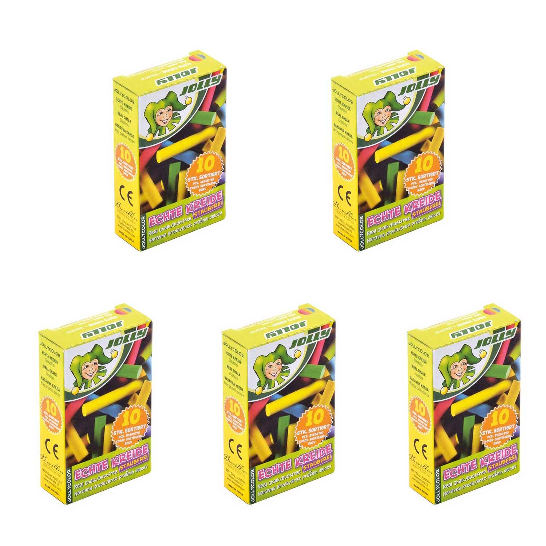 گچ 10 رنگ جولی مدل 0003-8300 بسته 5 عددی