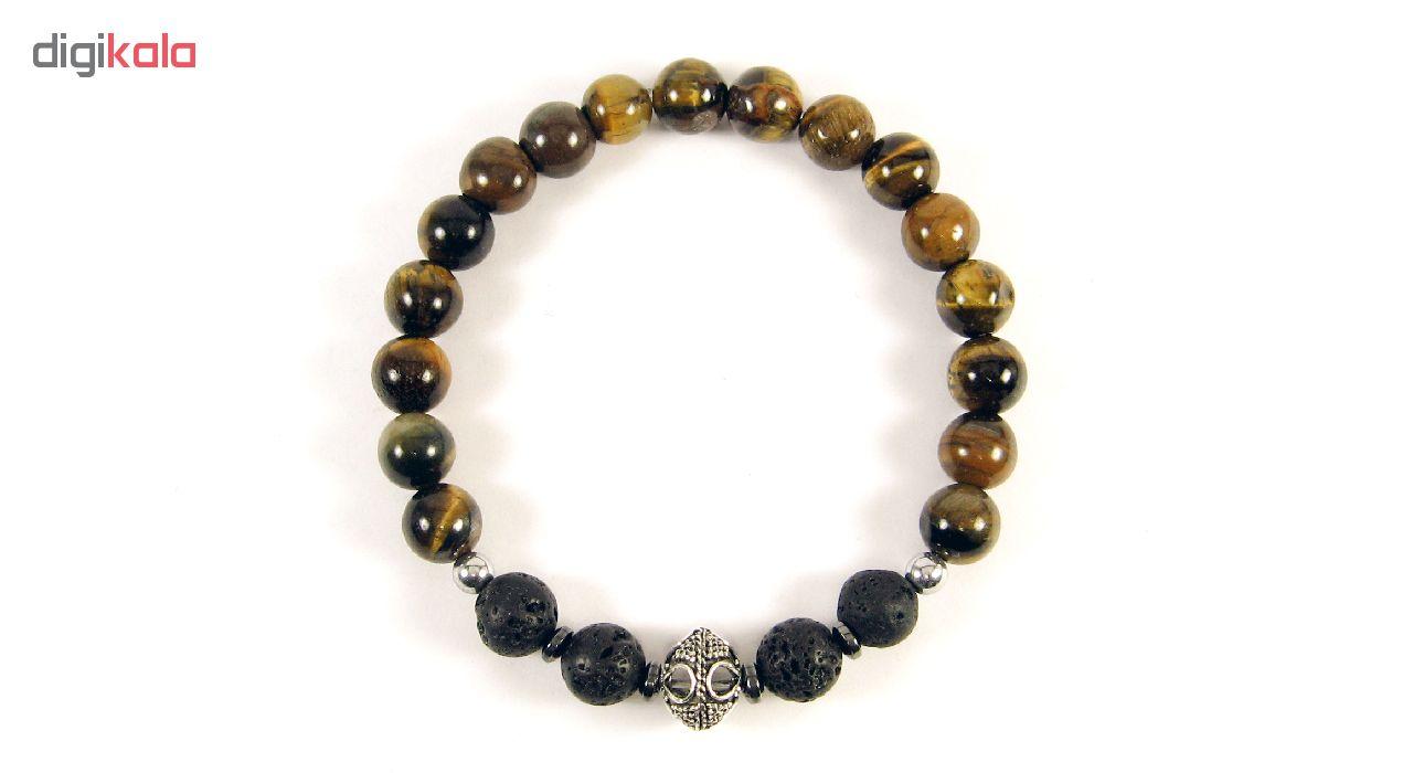 دستبند نقره مردانه مانچو مدل bs012