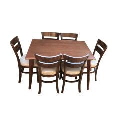 میز و صندلی ناهار خوری اسپرسان چوب مدل Sm40