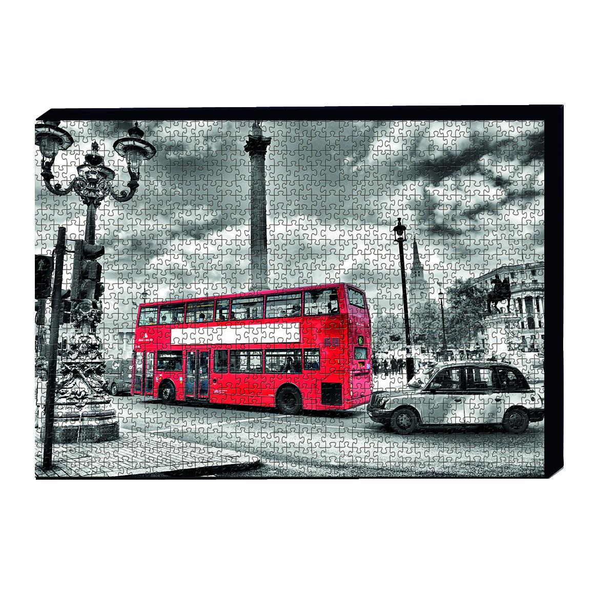 تابلو پازل 1000 تکه مدل اتوبوس لندن