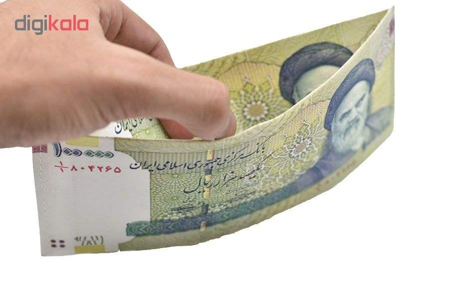 کیف پول مردانه طرح 10 هزار تومانی مدل cmp-5454 thumb 3