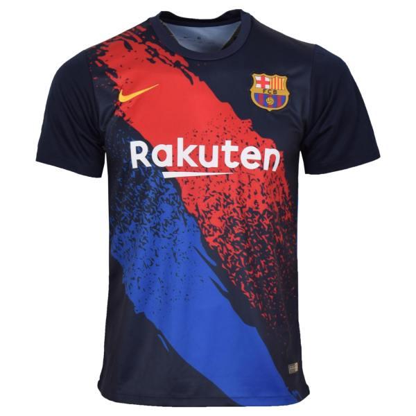 تیشرت ورزشی مردانه طرح بارسلونا کد Training1920 رنگ سرمه ای