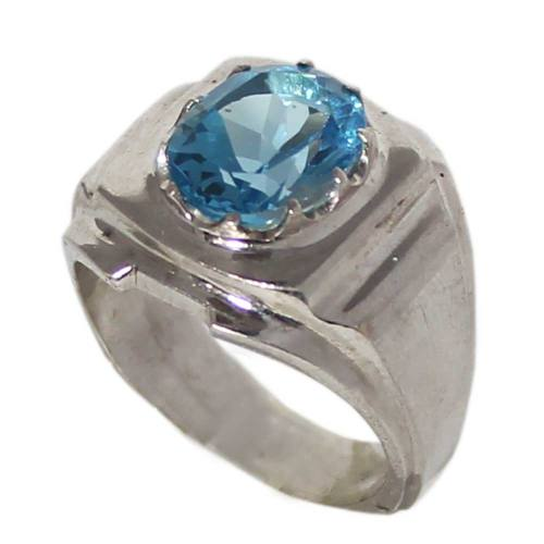 انگشتر نقره مردانه کد 01645