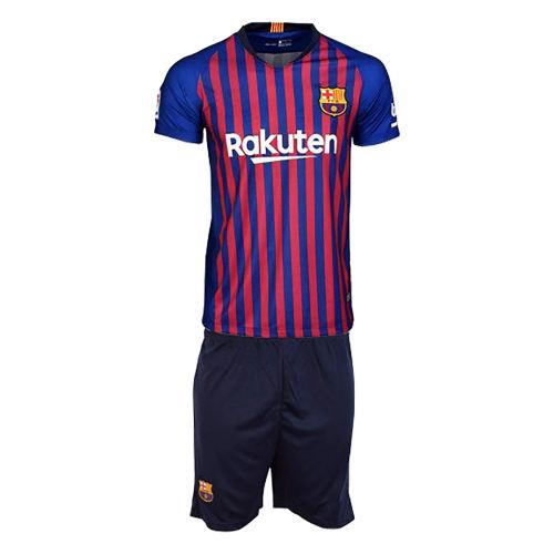 پیراهن و شورت ورزشی مردانه طرح تیم بارسلونا کد 19_2018