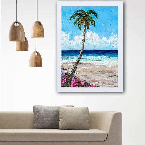 تابلو گالری استاربوی طرح ساحل مدل هنری L34