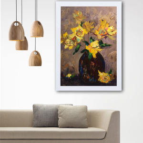 تابلو گالری استاربوی طرح گل مدل هنری L54