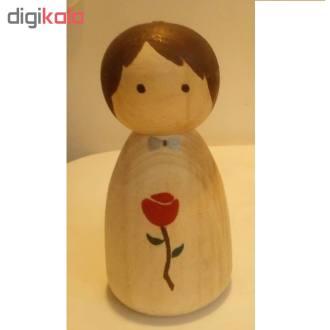 مجسمه چوبی مدل عاشقانه کد01dlove  مجموعه 2 عددی