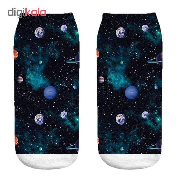 جوراب زنانه طرح کهکشان کد 1042 -  - 3