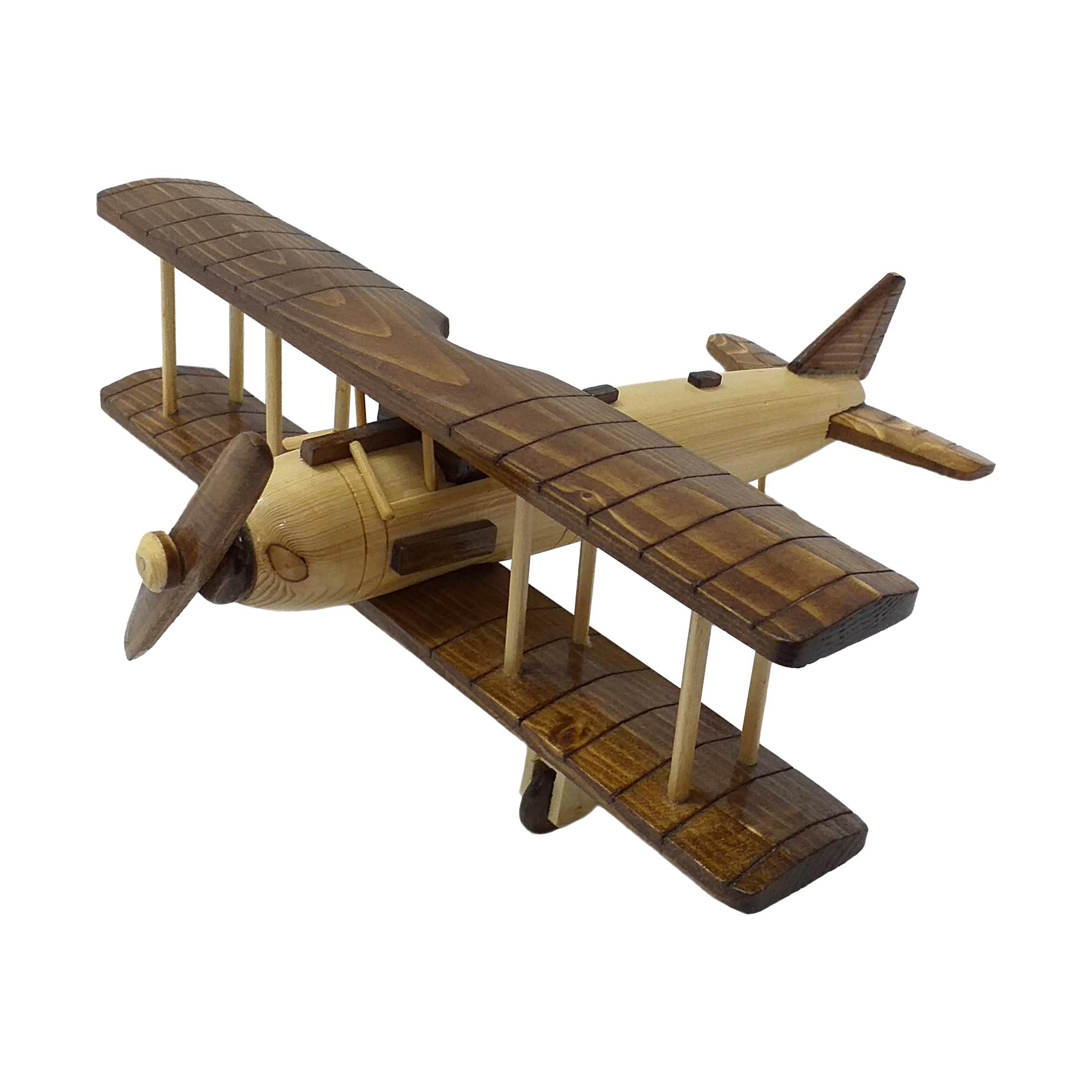 اسباب بازی چوبین هنر مدل هواپیمای دو بال کد 2120