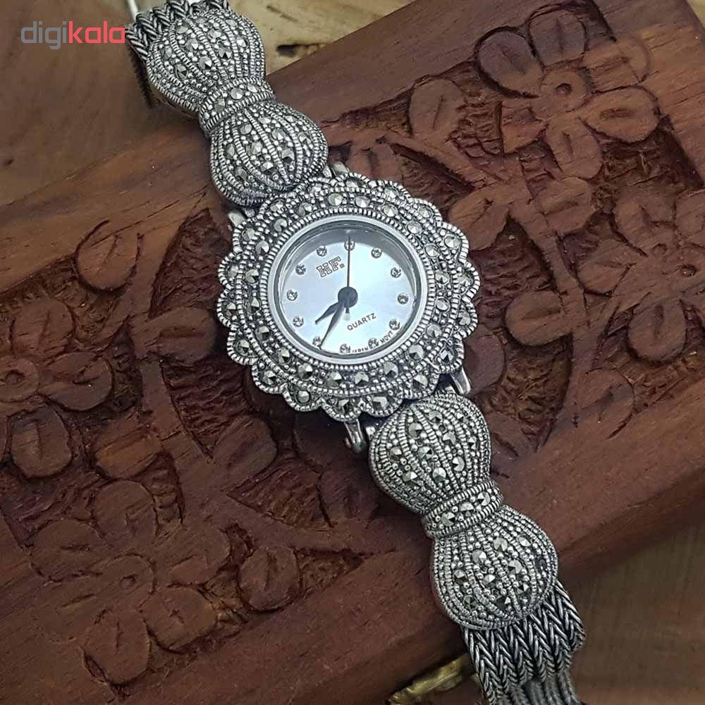 ساعت مچی عقربه ای زنانه نقره ترمه 1 مدل WT05