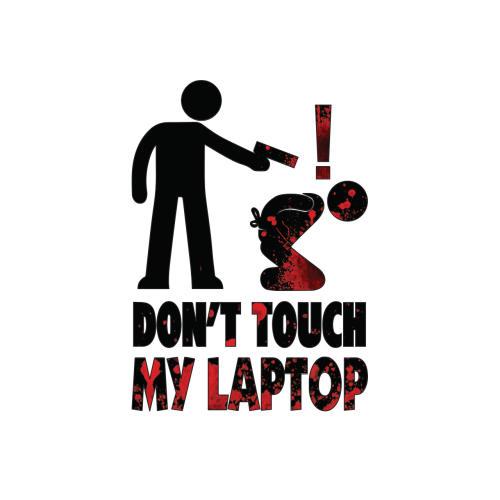 استیکر لپ تاپ طرح  Dont کد ۰۲