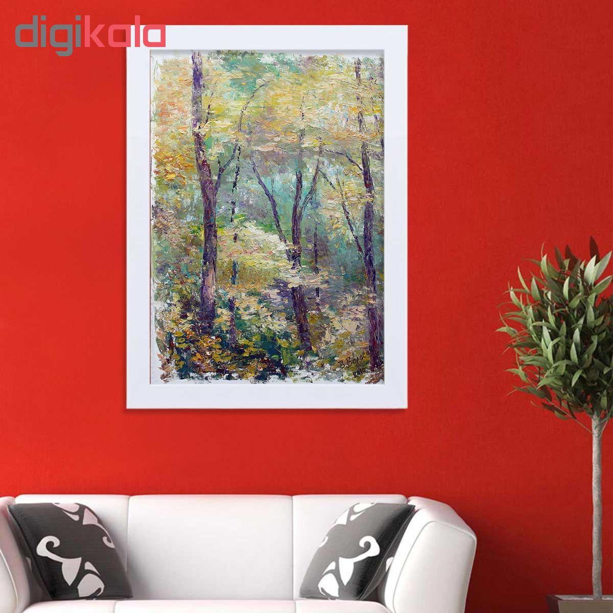 تابلو گالری استاربوی طرح جنگل مدل هنری HL225